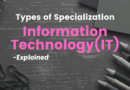Types of Specialization – Information Technology