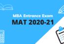 MBA Entrance Exam –  MAT 2020-21